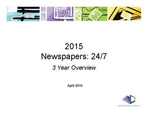 Newspapers 24.7 - What's Changed (PowerPoint)