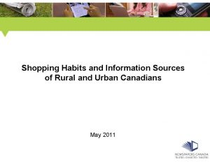 Shopping Habits of Rural vs Urban Study PowerPoint Presentation_0