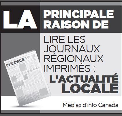 Le principale raison de lire les journaux régionaux imprimés: l'actualité locale