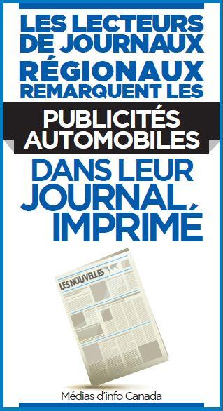 Les lecteurs de journaux régionaux remarquent les publicités automobiles