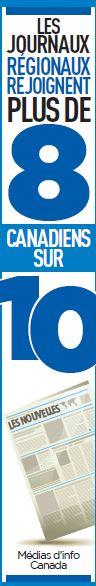 Les journaux régionaux rejoignent plus de 8 Canadiens sur 10