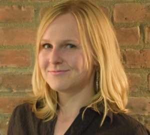 Jennifer Bieman, winner of the 2017 Greg Clark Award