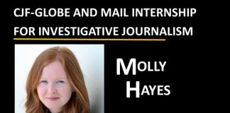 CJF-Globe and Mail Internship - Molly Hayes