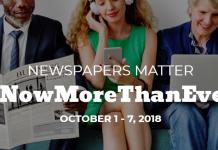 #NowMoreThanEver - National Newspaper Week 2018