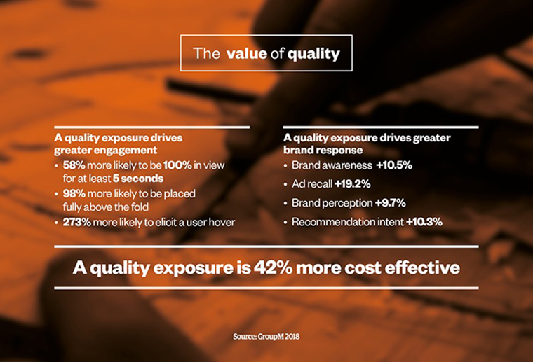 Quality online environments helps advertiser engagement