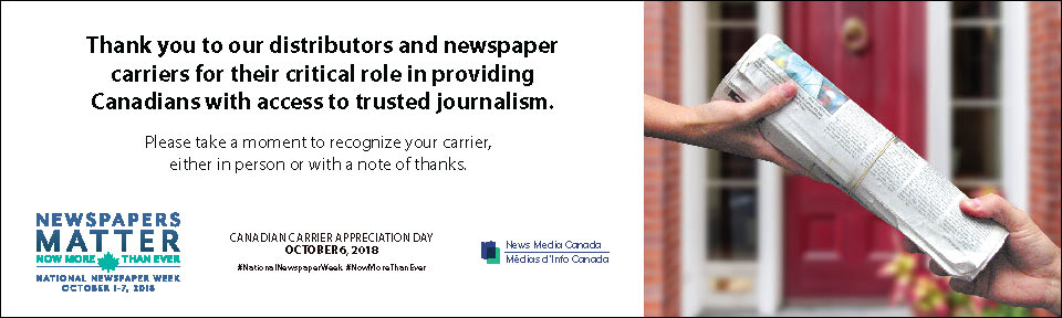 Carrier Appreciation Day Ads - News Media Canada