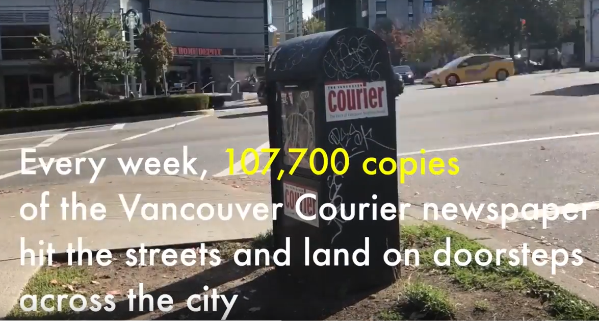 Why Newspapers Matter: The Vancouver Courier
