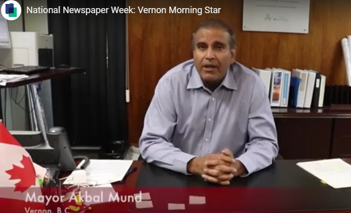 National Newspaper Week Video feature: Newspapers Matter to Vernon, B.C.