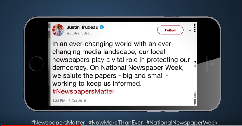 National Newspaper Week video: Newspapers Matter to Canadian businesses