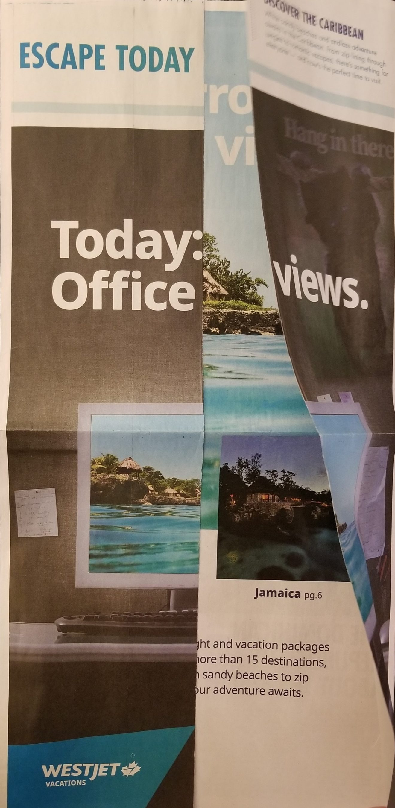 "Tired of winter? WestJet Vacations encourages Toronto Star readers to ""Escape Today"""