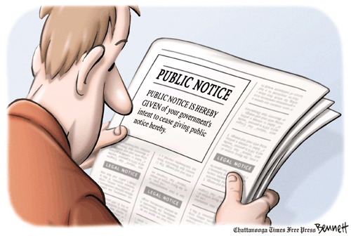 Public access does not mean public notice
