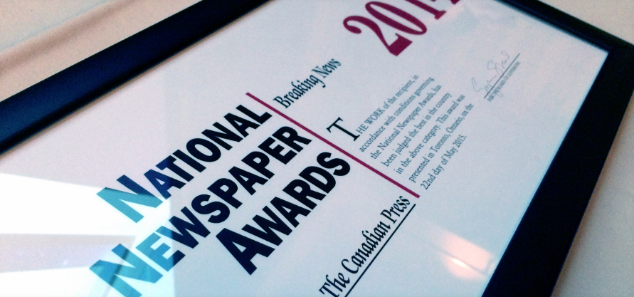 Entries now open for National Newspaper Awards