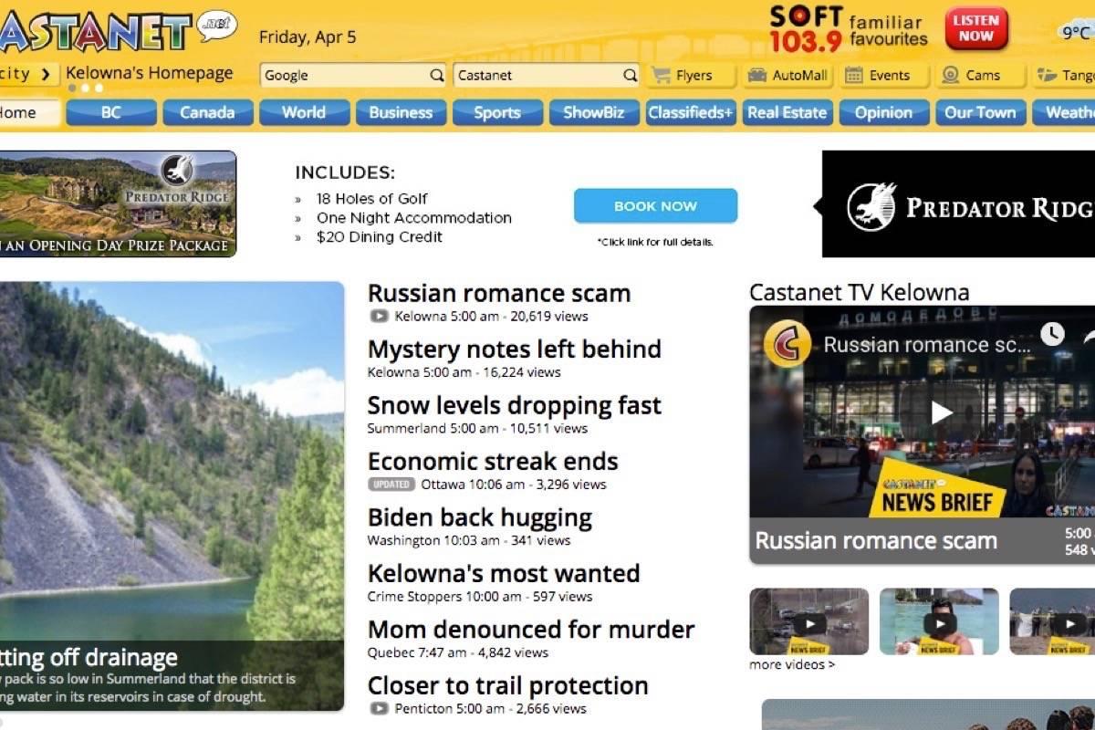 Glacier Media buys community news site Castanet