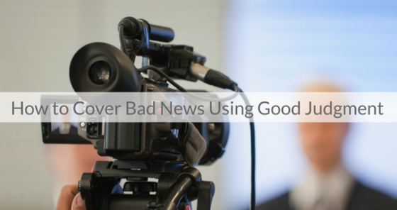 This Week's Featured Course on Newspaper Training: How to Cover Bad News Using Good Judgment