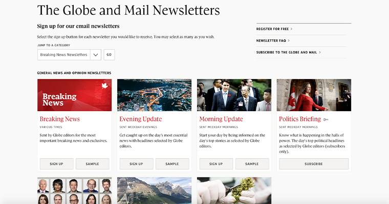 Globe and Mail's newsletters drive revenue, engagement