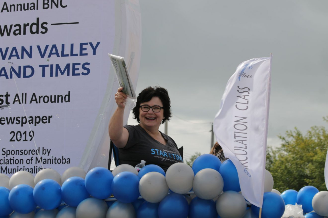 Swan Valley Star and Times celebrates BNC win with parade float