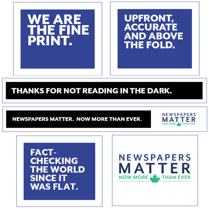 Remind your readers that Newspapers Matter with industry house ads