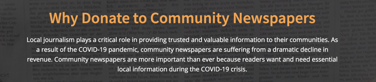 You can now donate to Ontario community newspapers