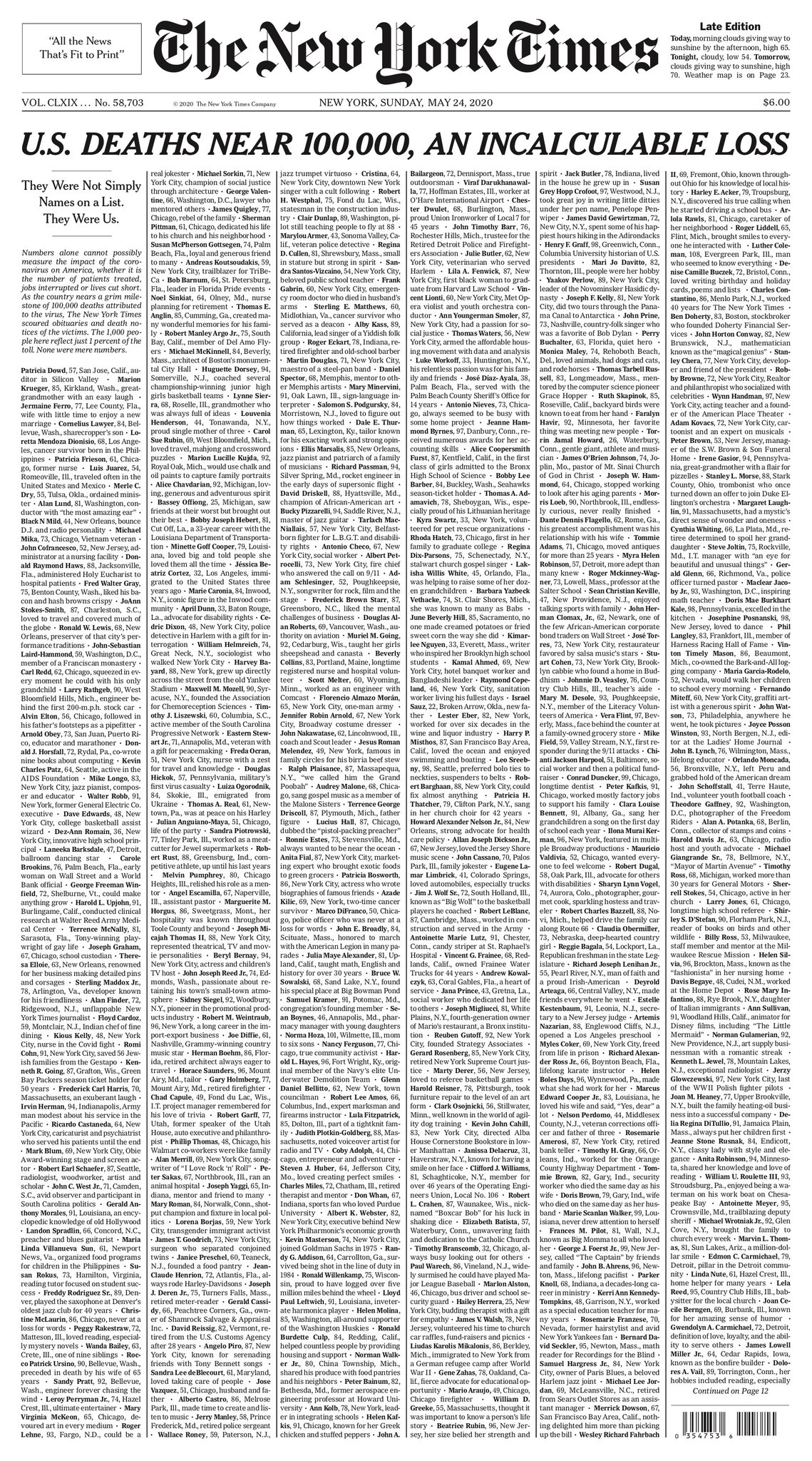 The New York Times provides insights behind their project to bring a front page full of names