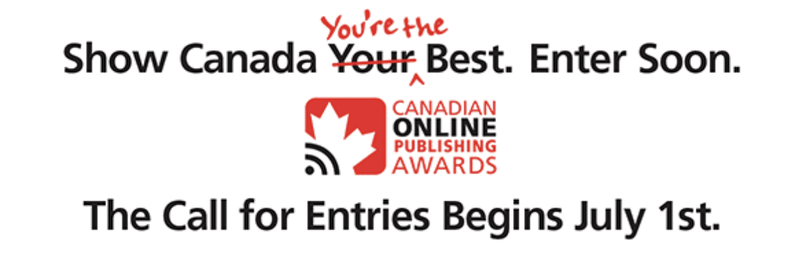 Canadian Online Publishing Awards announces 2020 competition