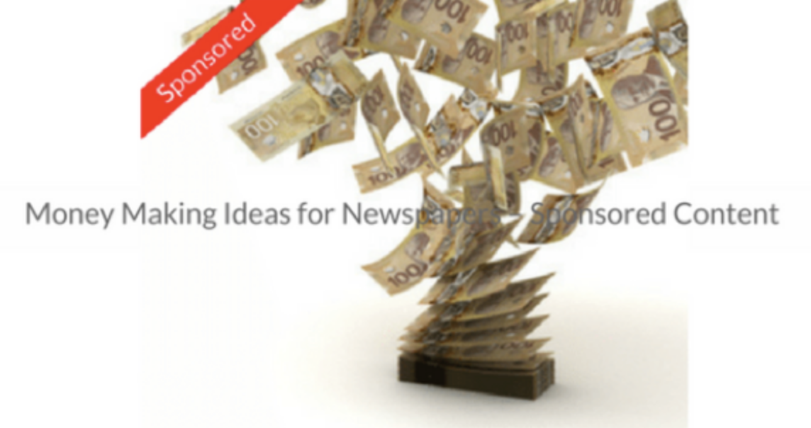 This Week's Featured Course on Newspaper Training: Money Making Ideas for Newspapers - Sponsored Content