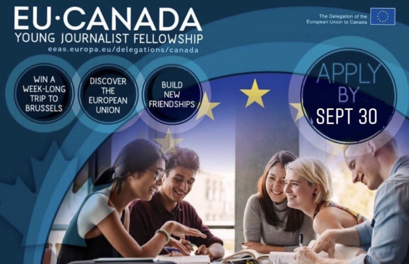 Deadline extended for 2020 EU-Canada Young Journalist Fellowship