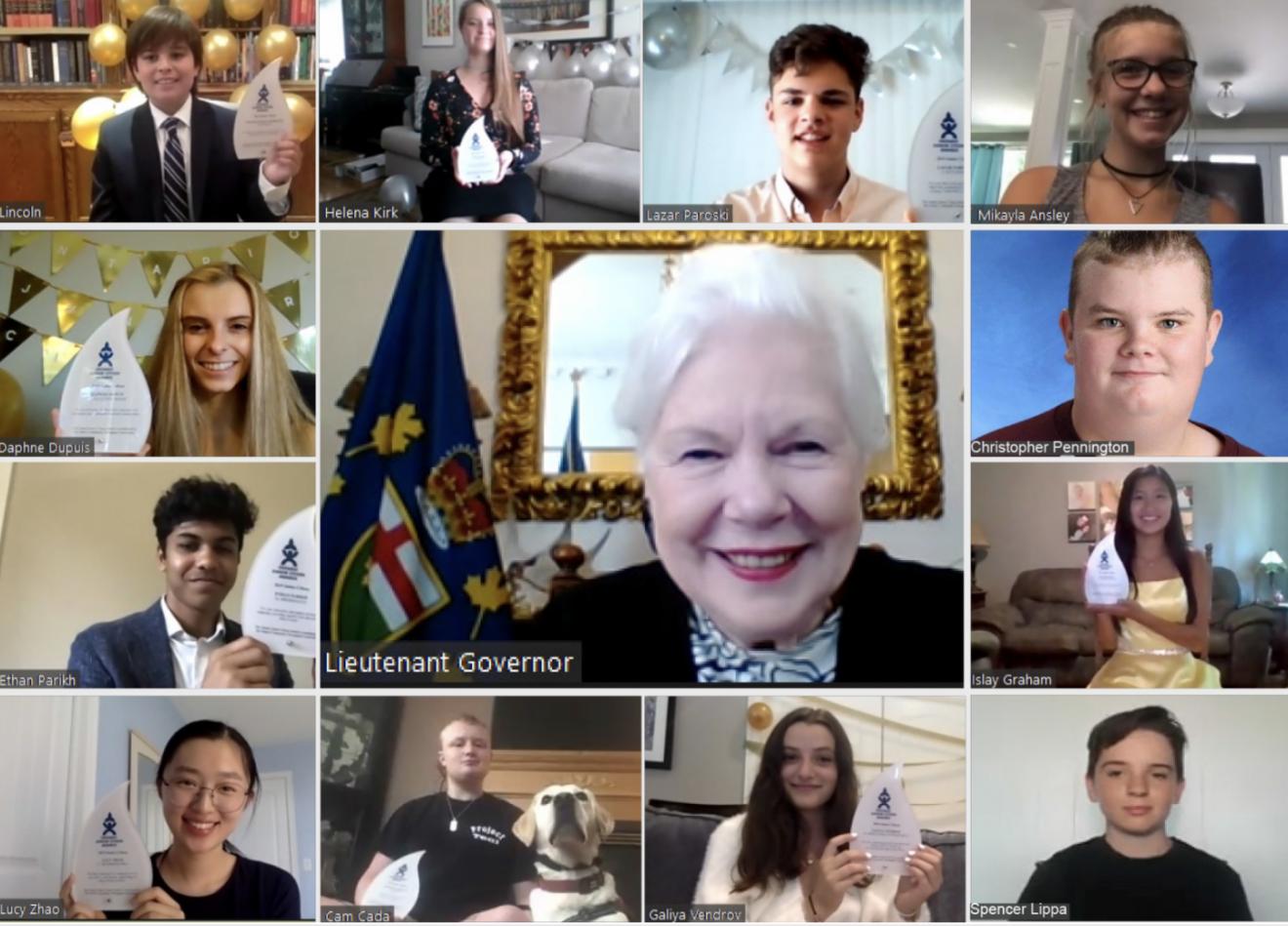 Ontario Junior Citizens honoured in virtual ceremony