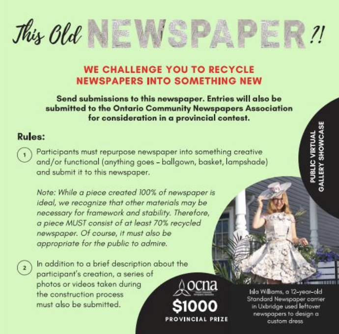 "OCNA launches ""This Old Newspaper?!"" contest"
