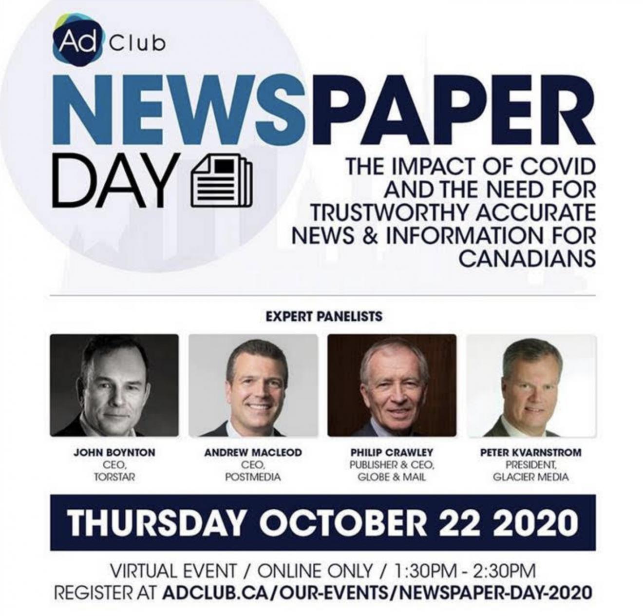 Celebrate Ad Club of Toronto Newspaper Day