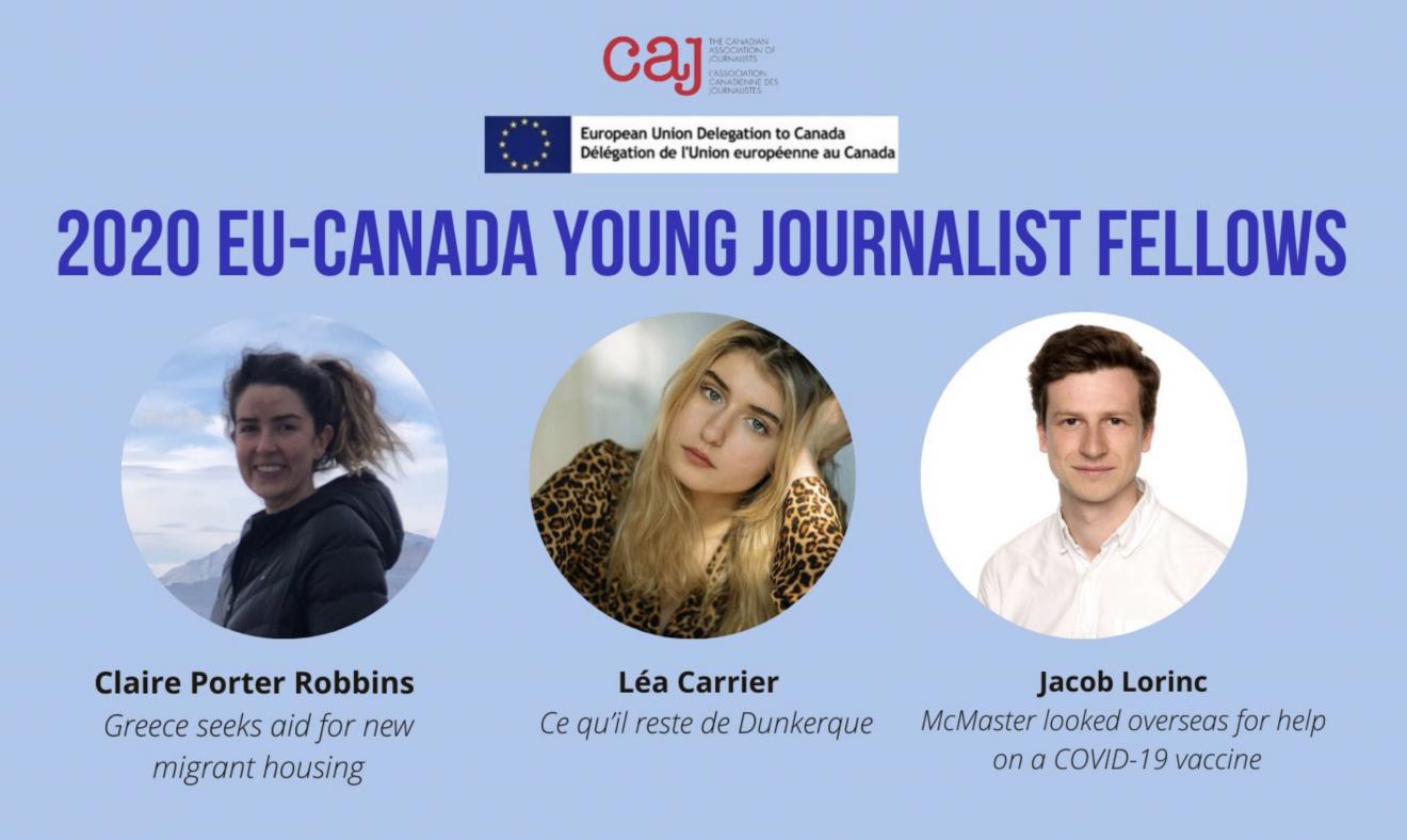2020 EU-Canada Young Journalist Fellows announced