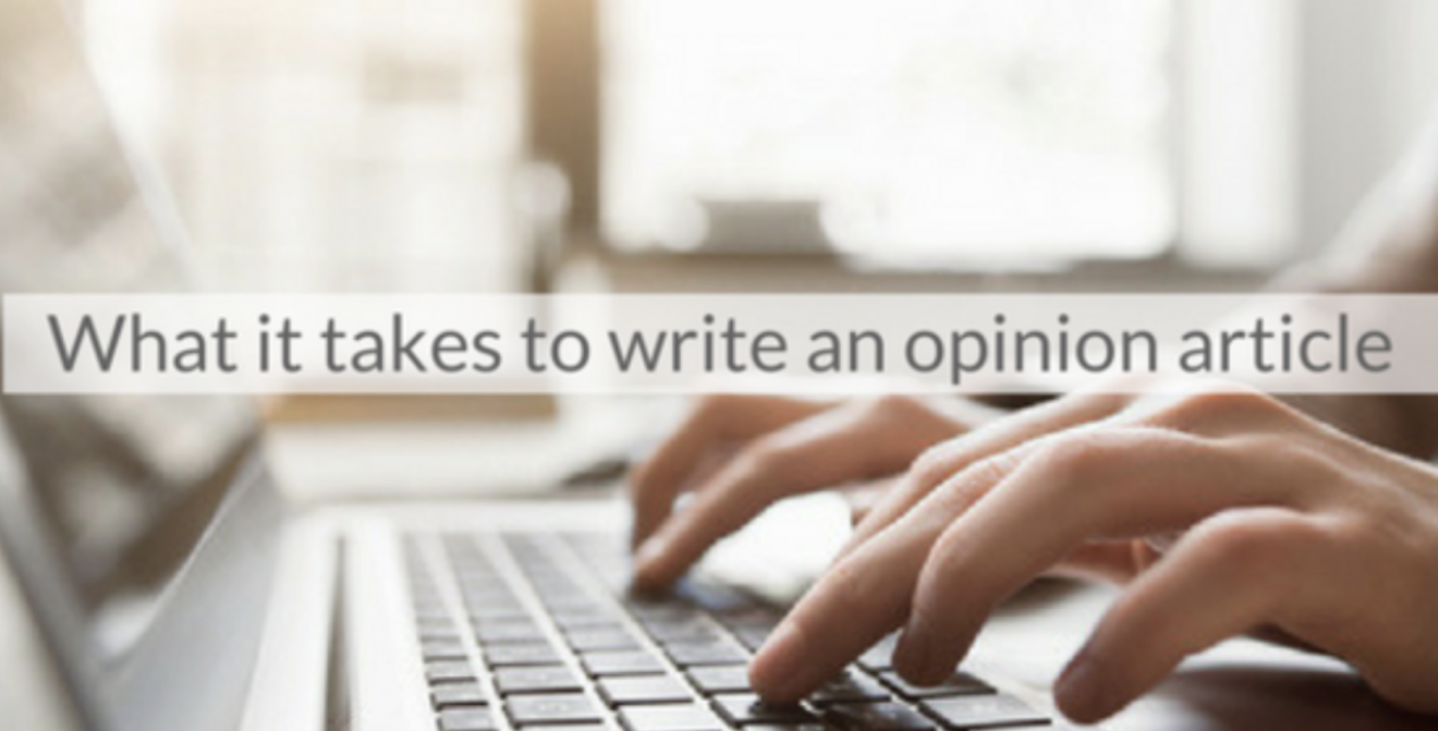 This Week's Featured Course on Newspaper Training: What it Takes to Write an Opinion Article