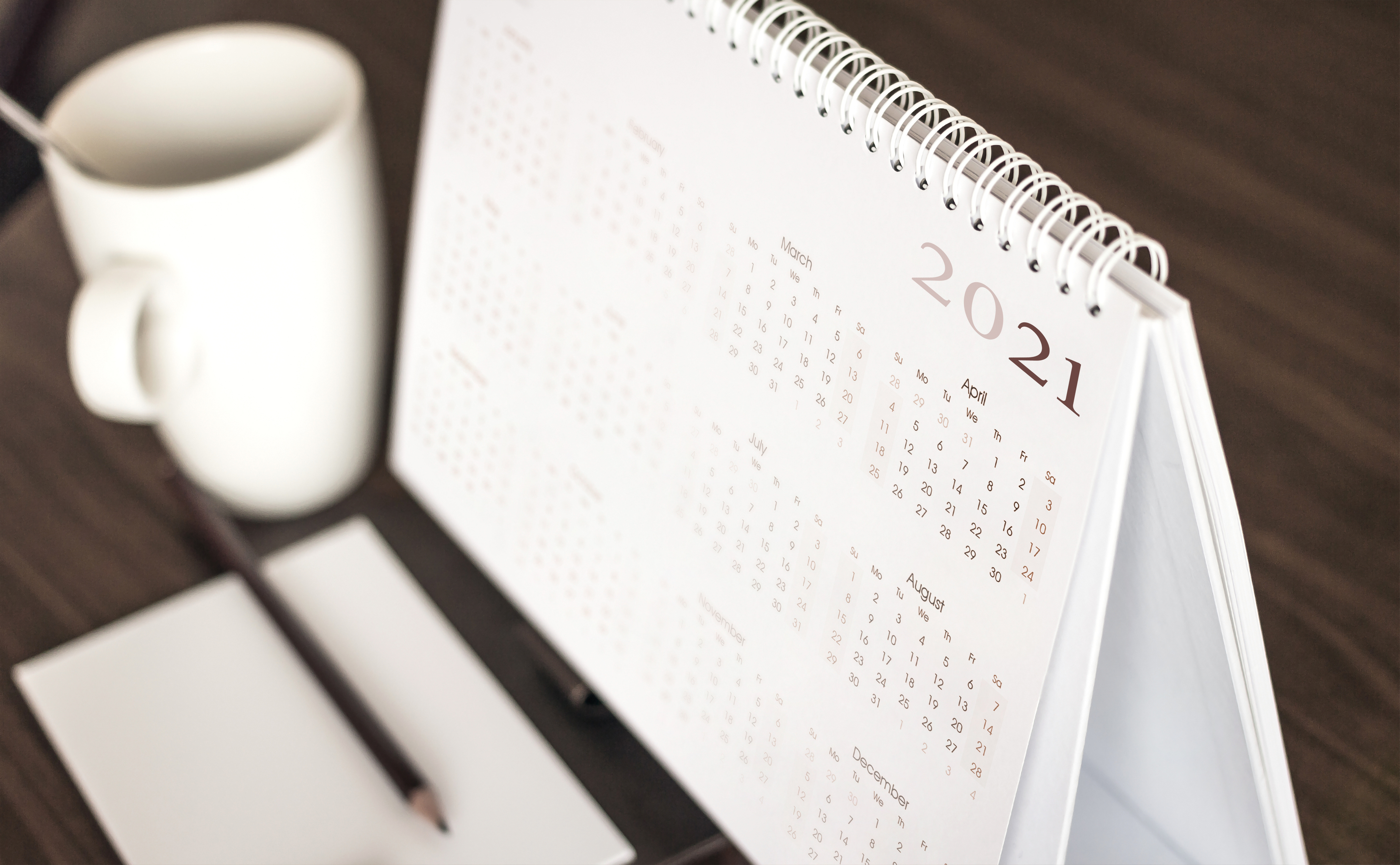 We've updated our events calendar for 2021