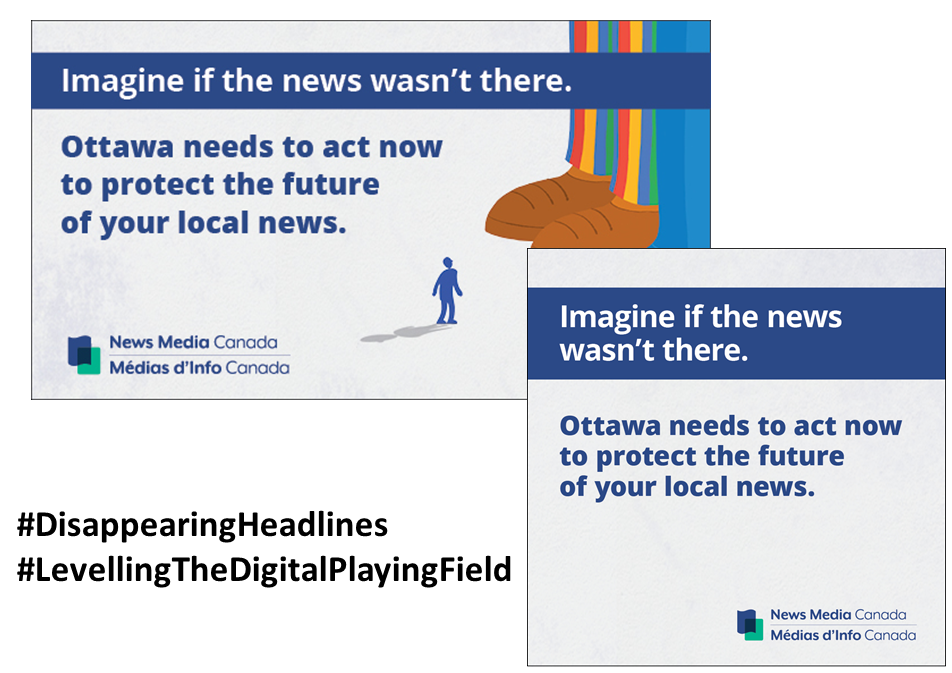 Don't forget to participate in the Disappearing Headlines campaign
