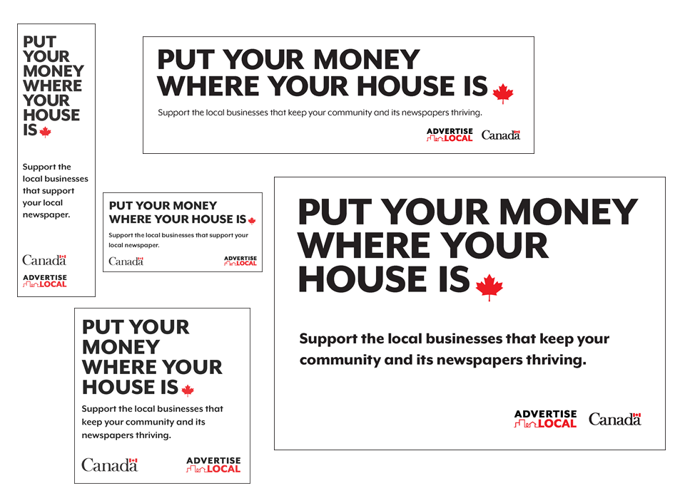 New industry house ads encourage readers to support local advertisers