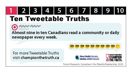 Ten 'Tweetable Truths' print and digital house ads available