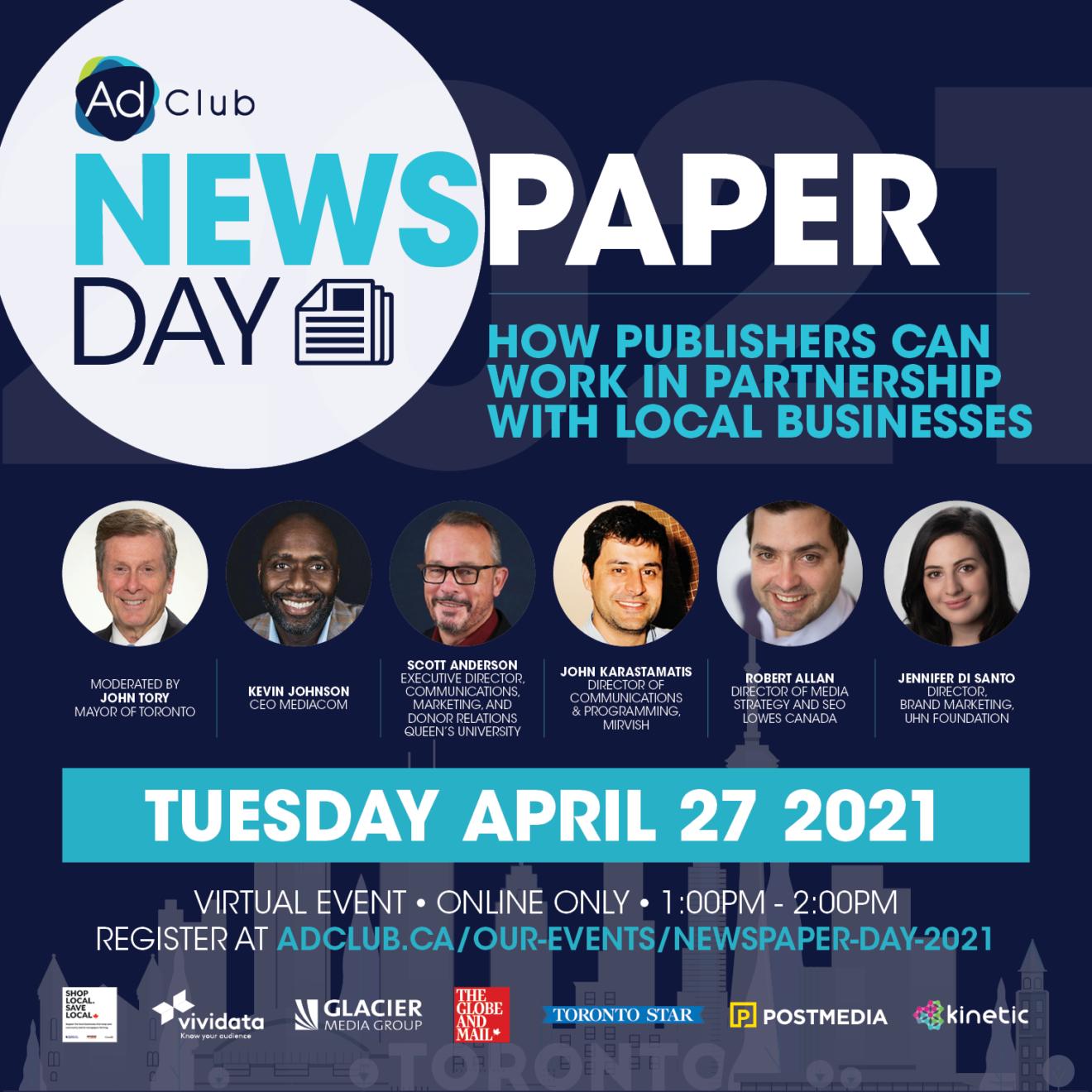 Toronto Ad Club's Newspaper Day 2021
