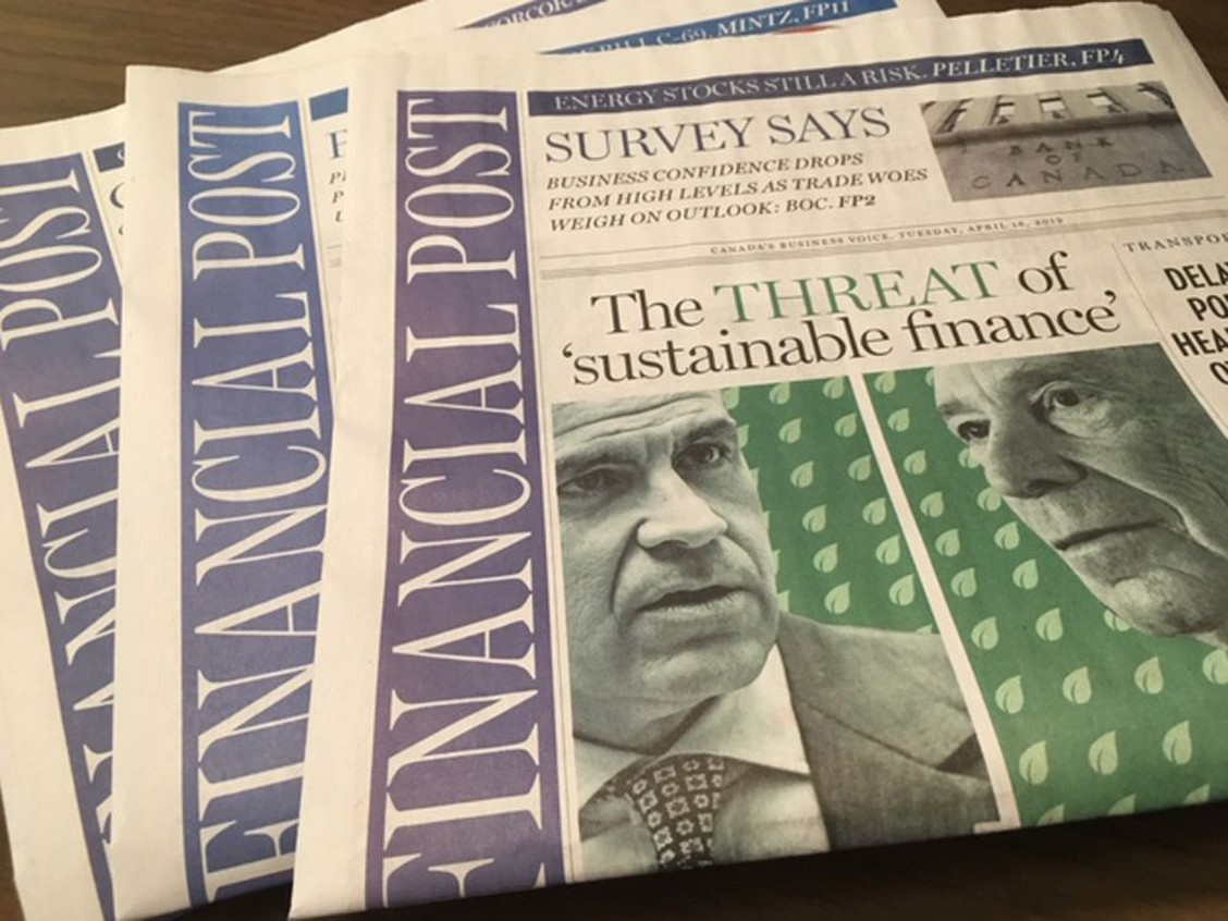 The Financial Post nominated for five business reporting awards