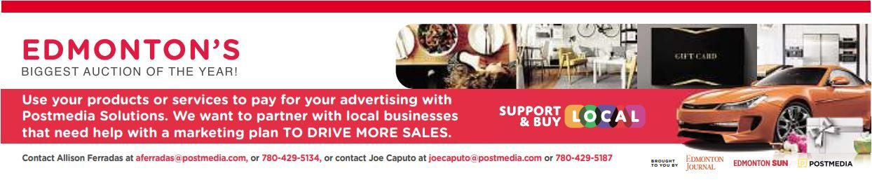 Will you be joining Postmedia's Edmonton spring auction?