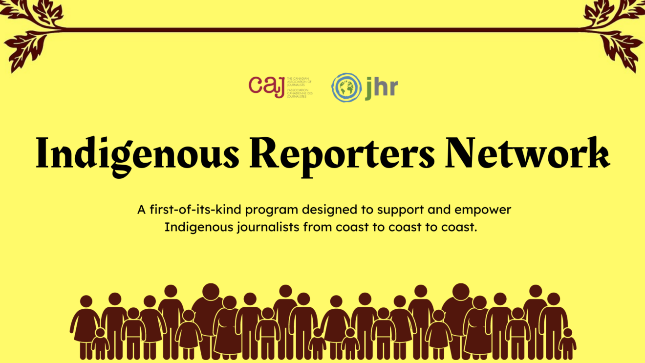 Canadian journalism groups launch Indigenous Reporters Network