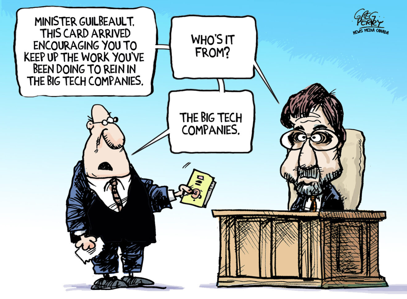 Levelling the Digital Playing Field editorial cartoon now available