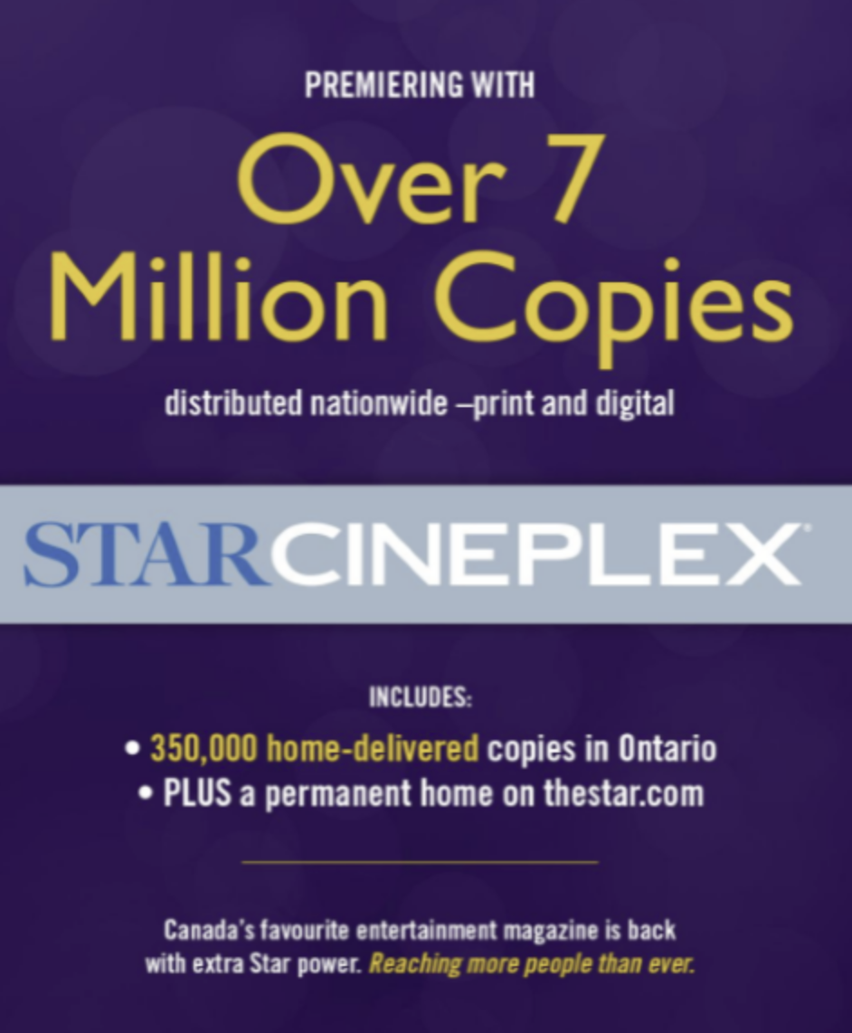 Debut issue of Star Cineplex magazine coming soon