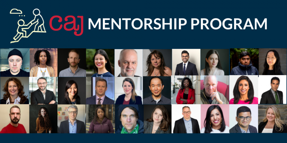 Last call for journalists to apply to the CAJ's mentorship program